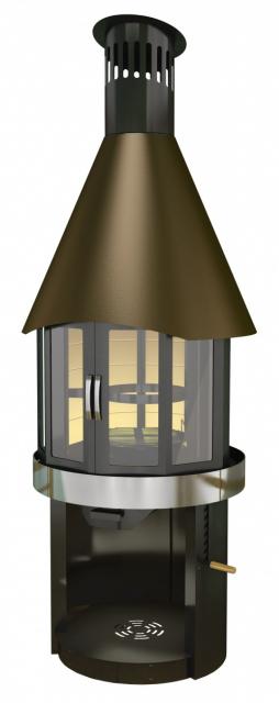Финский гриль-камин для беседки Fireplace