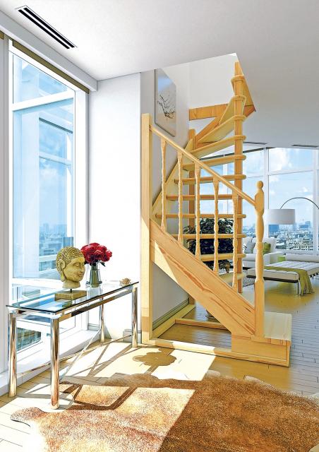Деревянная лестница на второй этаж 2720-2525-03