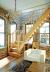 Деревянная лестница на второй этаж 3000-2800-04