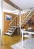 Комбинированная лестница на металлокаркасе на второй этаж 2760-05