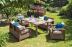 Обеденный комплект садовой мебели из ротанга Cappuccino