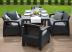 Обеденный комплект садовой мебели из ротанга Graphite