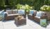 Комплект садовой мебели из ротанга Cappuccino