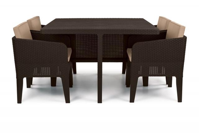 Комплект садовой мебели из ротанга с подушками Brown