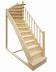 Деревянная лестница на второй этаж 2900-2700-215