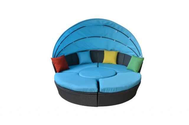 Круглый садовый диван-шезлонг Transformer Shell