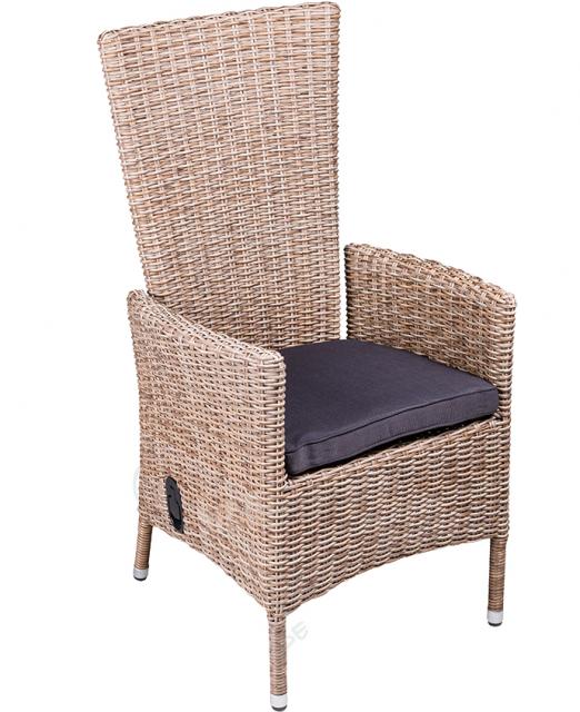 Плетеное кресло из ротанга с откидывающейся спинкой Capri