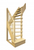 Деревянная лестница на второй этаж 2900-2475-91