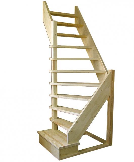 Деревянная лестница на второй этаж 2900-2475-92