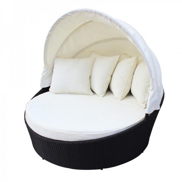 Круглый садовый диван-шезлонг White Shell