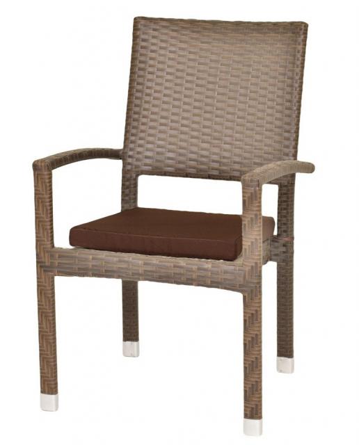Плетеное кресло из ротанга с подушкой Toffee