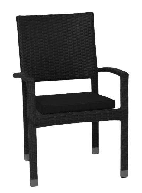 Плетеное кресло из ротанга с подушкой Venge (под заказ, 2 недели)