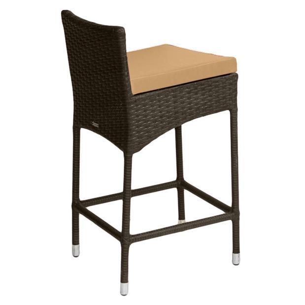 Барный стул из полиротанга Coffee