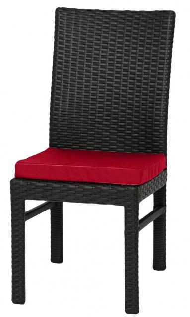 Стул из ротанга с подушками Black & Red