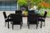 Плетеный обеденный стол Rattan Black