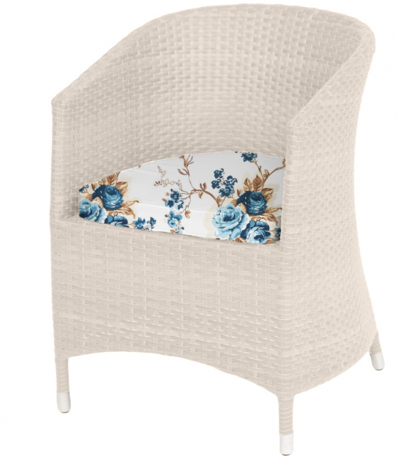 Плетеное кресло с подушками Milky