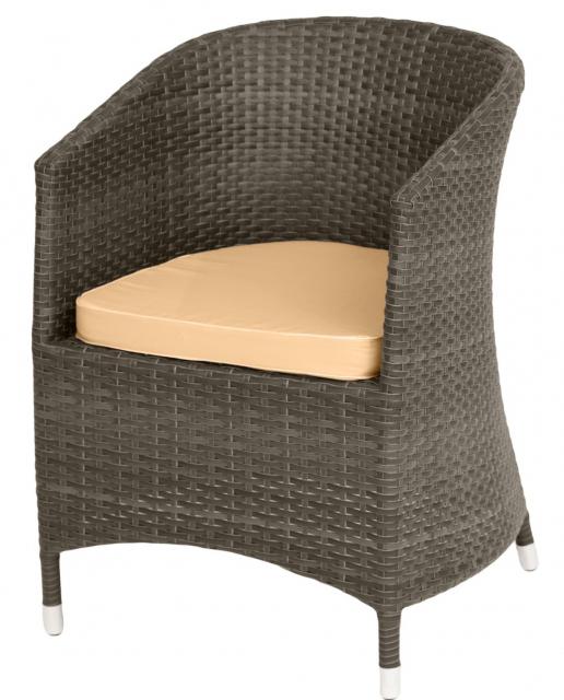 Плетеное кресло с подушками Brown