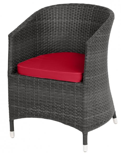 Плетеное кресло с подушками Graffit