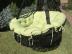 Подвесное кресло-качели на подставке черное Set 1
