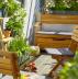 Высокая деревянная скамейка A-Set 3