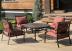 Комплект садовой мебели из алюминия BBQ Orange Set 4
