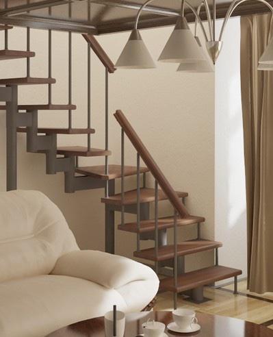 Лестница Фаворит с поворотом 90° 2025-3575