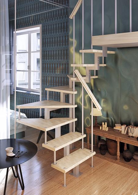 Модульная лестница с поворотом 180° 1800-3375
