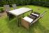 Садовый стул из ротанга с откидывающейся спинкой Beige