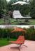 Подвесные садовые качели-шезлонг для двоих Orange