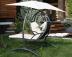 Подвесные садовые качели для двоих Beige