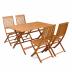 Комплект садовой мебели из дерева Eucalyptus Set 5