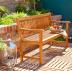 Деревянная садовая скамейка Eucalyptus Set 3