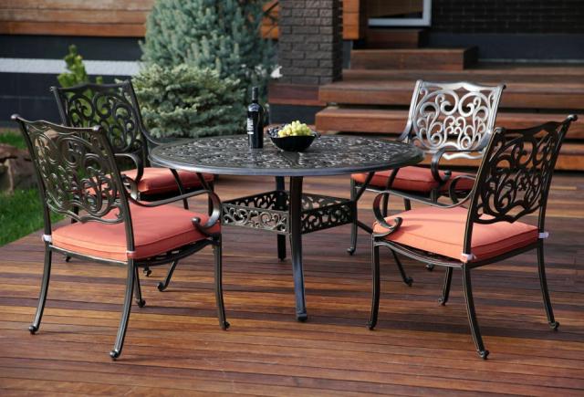 Комплект садовой мебели из алюминия Red Set 4
