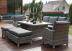 Обеденный комплект садовой мебели из ротанга Set 8-2