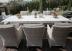 Садовый обеденный стол-трансформер White